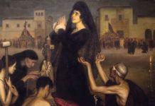 """""""La saeta"""", Julio Romero de Torres, 1918."""