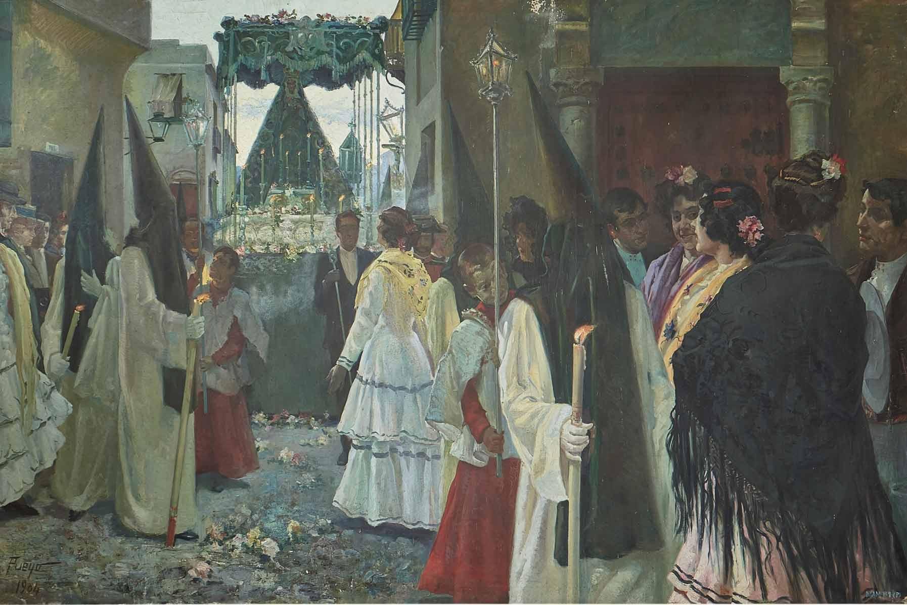 """""""La Semana Santa en Andalucía"""", José Pueyo Matanza, 1904."""