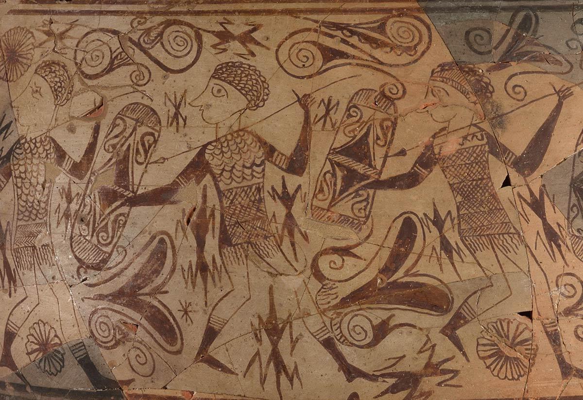 Detalle del Vaso de los Guerreros, Museu Prehistòria de València.