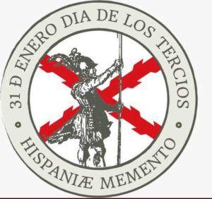 """Emblema diseñado por la plataforma """"31 de enero tercios""""."""