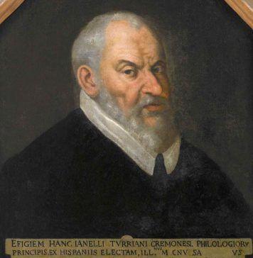 """""""Retrato de Juanelo Turriano"""", anónimo español, último cuarto del siglo XVI. Óleo sobre lienzo. Museo Civico """"Ala Ponzone"""" (Cremona), Rub. A. 440."""
