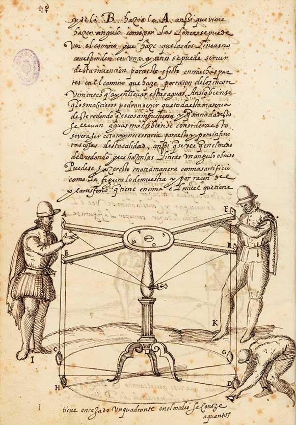 """""""Los veintiún libros de los ingenios y de las máquinas"""", Pedro Juan Lastanosa, s. XVIII. BNE, Mss/3374 (v.3)."""