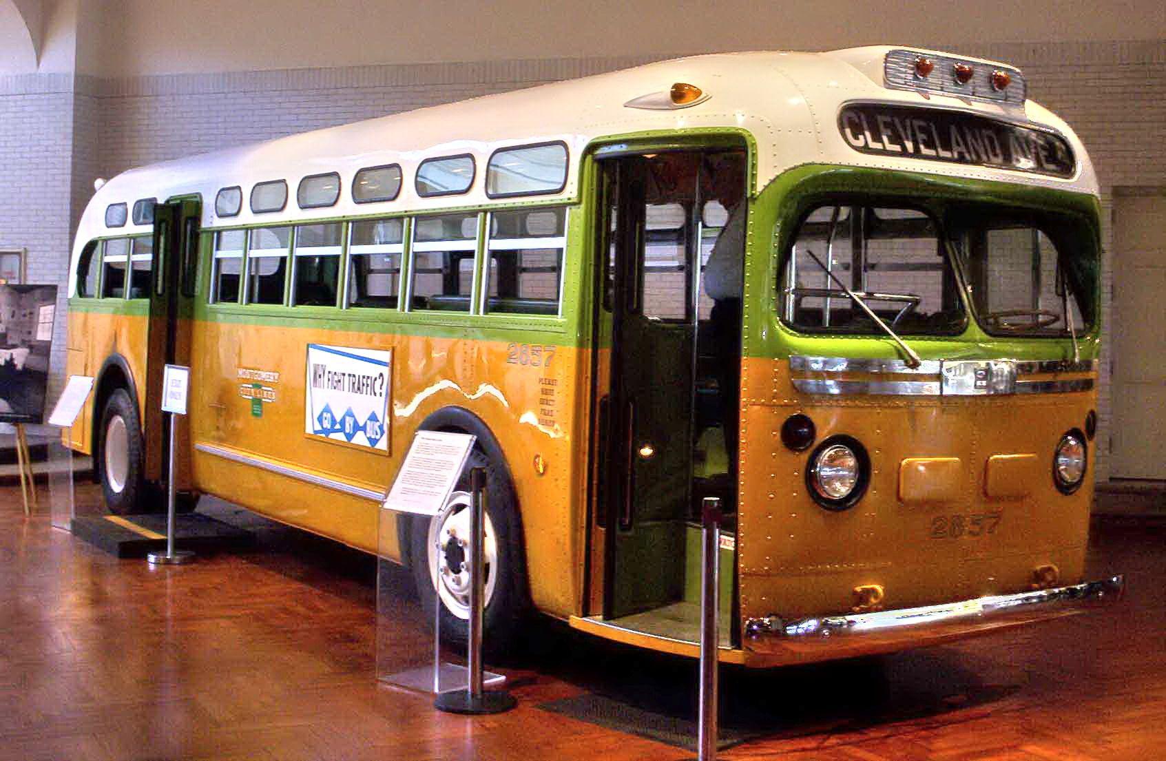 El autobús en que fue detenida Rosa Parks.