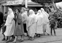 Mujeres argelinas durante la colonización francesa.