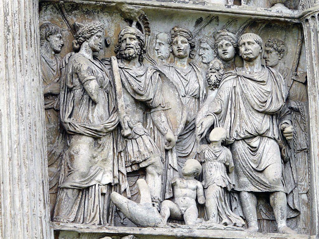 Trajano, en una representación en la columna que lleva su nombre y narra su conquista de la Dacia.