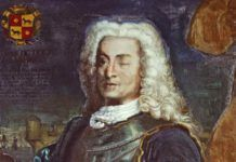 Retrato anónimo de Blas de Lezo conservado en el Museo Naval.