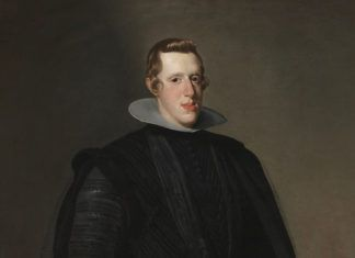 """Felipe IV"" (detalle), Diego Velázquez, 1628, Madrid, Museo del Prado."