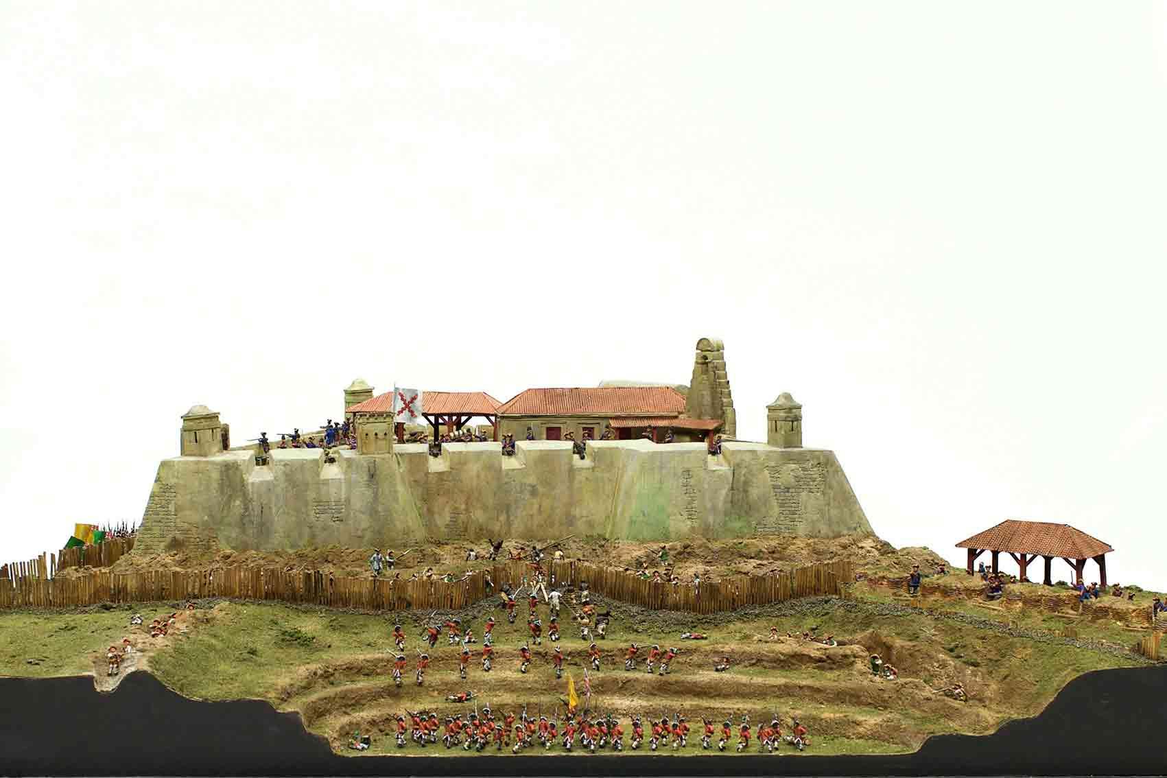 Maqueta del asedio a Cartagena de Indias (1741).