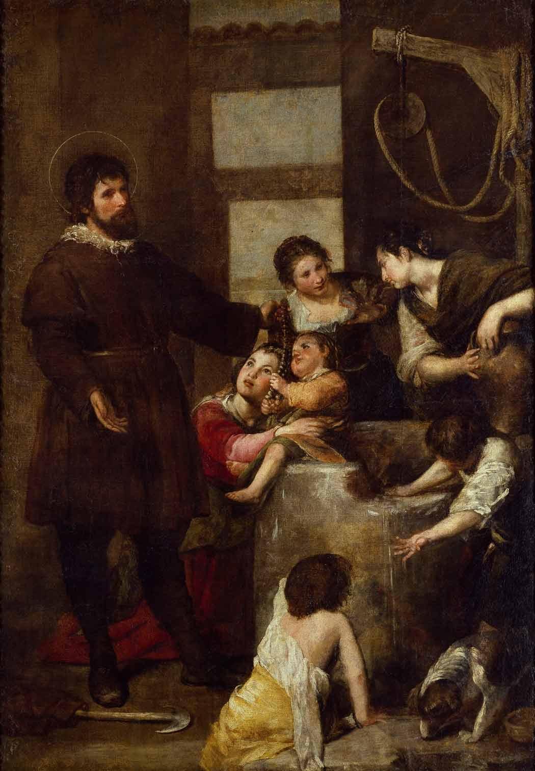 """""""El milagro del pozo"""", Alonso Cano, 1638-1640, Madrid, Museo del Prado."""