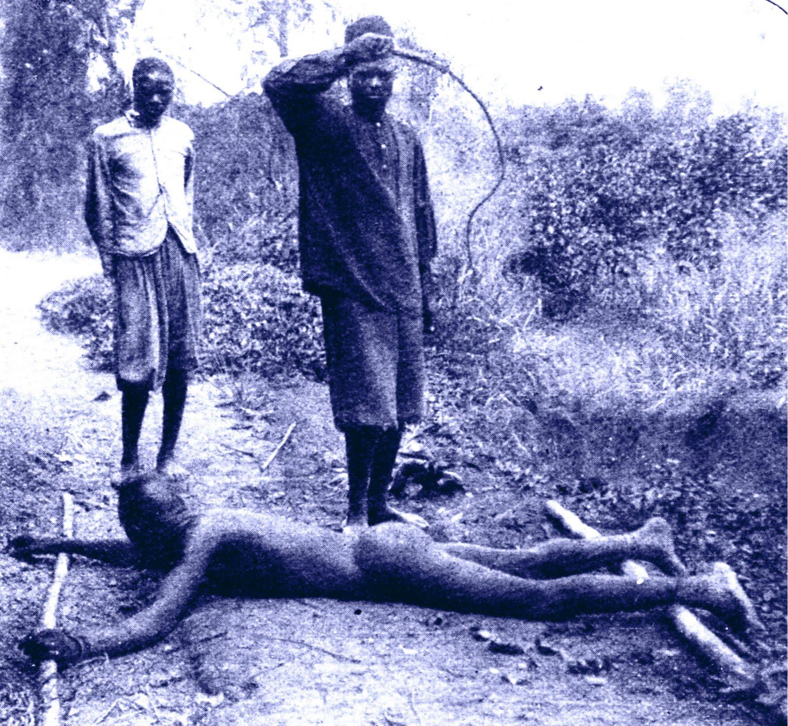 Castigos corporales en el Congo belga durante el reinado de Leopoldo II.
