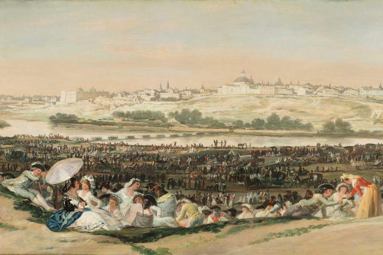 """""""La pradera de San Isidro"""" (detalle), Francisco de Goya y Lucientes, 1788."""