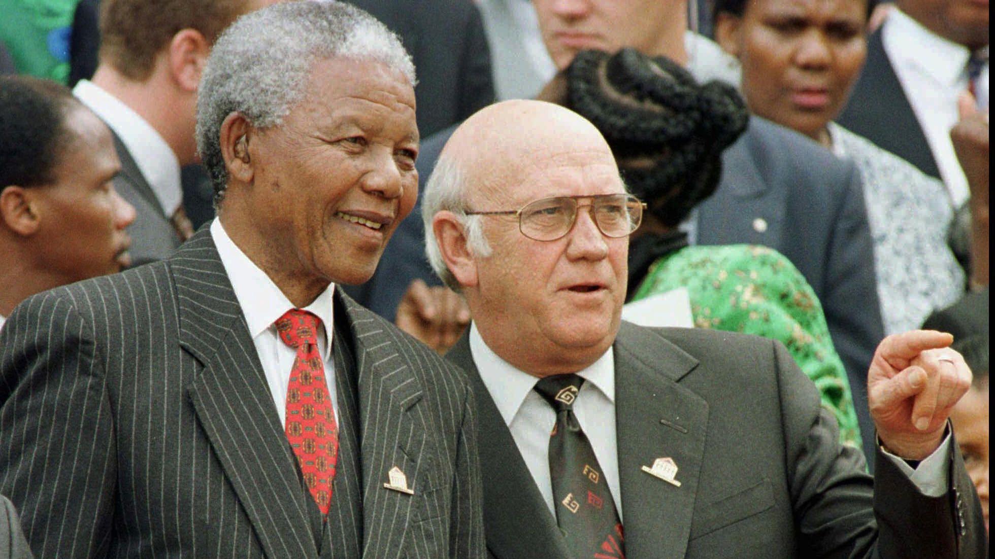 Mandela y De Klerk a principio de la década de 90.
