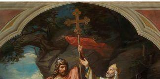"""""""Don Pelayo en Covadonga"""", Luis de Madrazo y Kuntz, Madrid, Museo del Prado, 1855."""