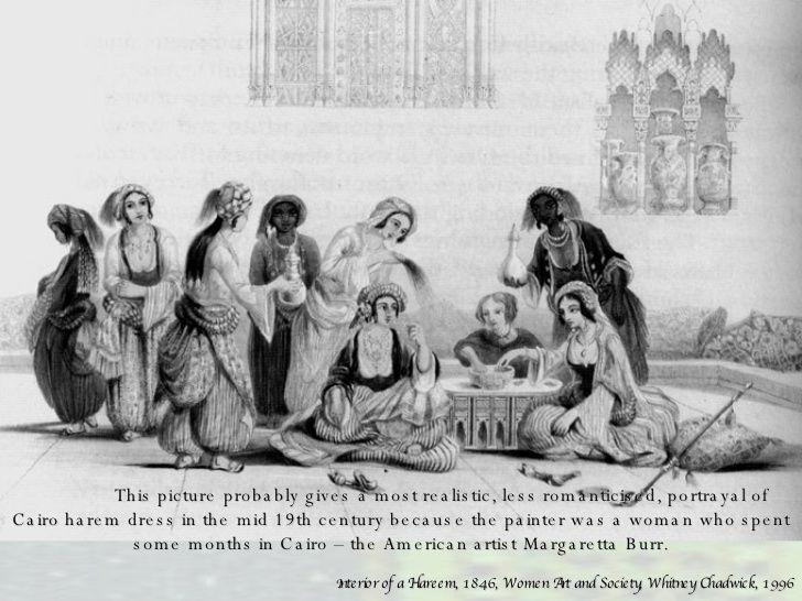 Reunión de mujeres en un harén en El Cairo, en una litografía del siglo XIX.