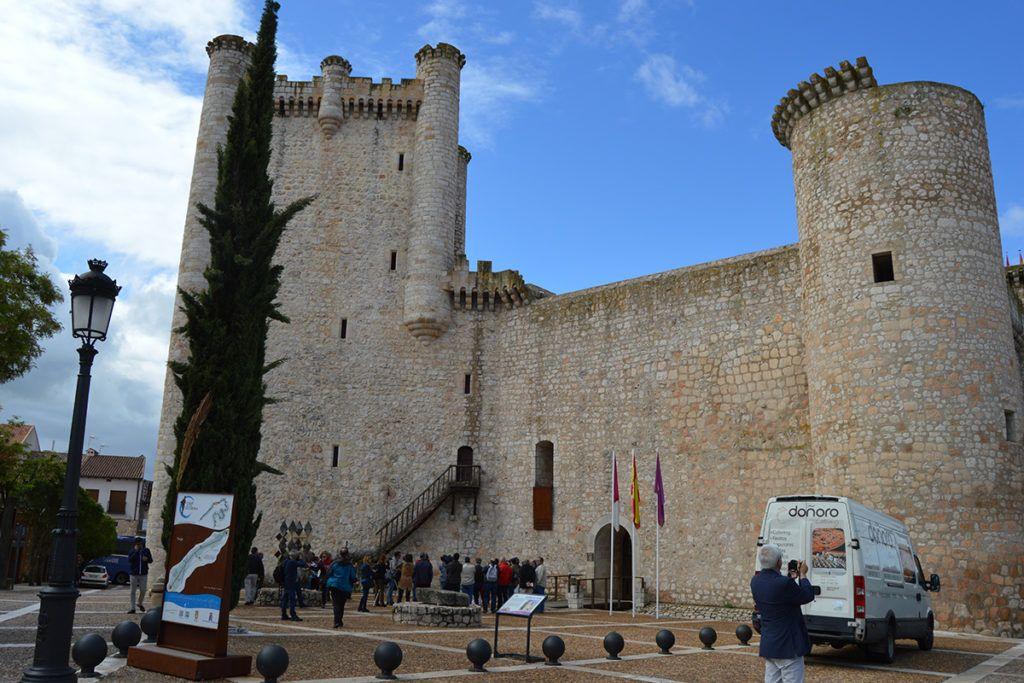 """Castillo de Torija, siglo IX, levantado inicialmente por los Templarios, una de las paradas de la guía """"Guadalajara y sus campos de batalla""""."""