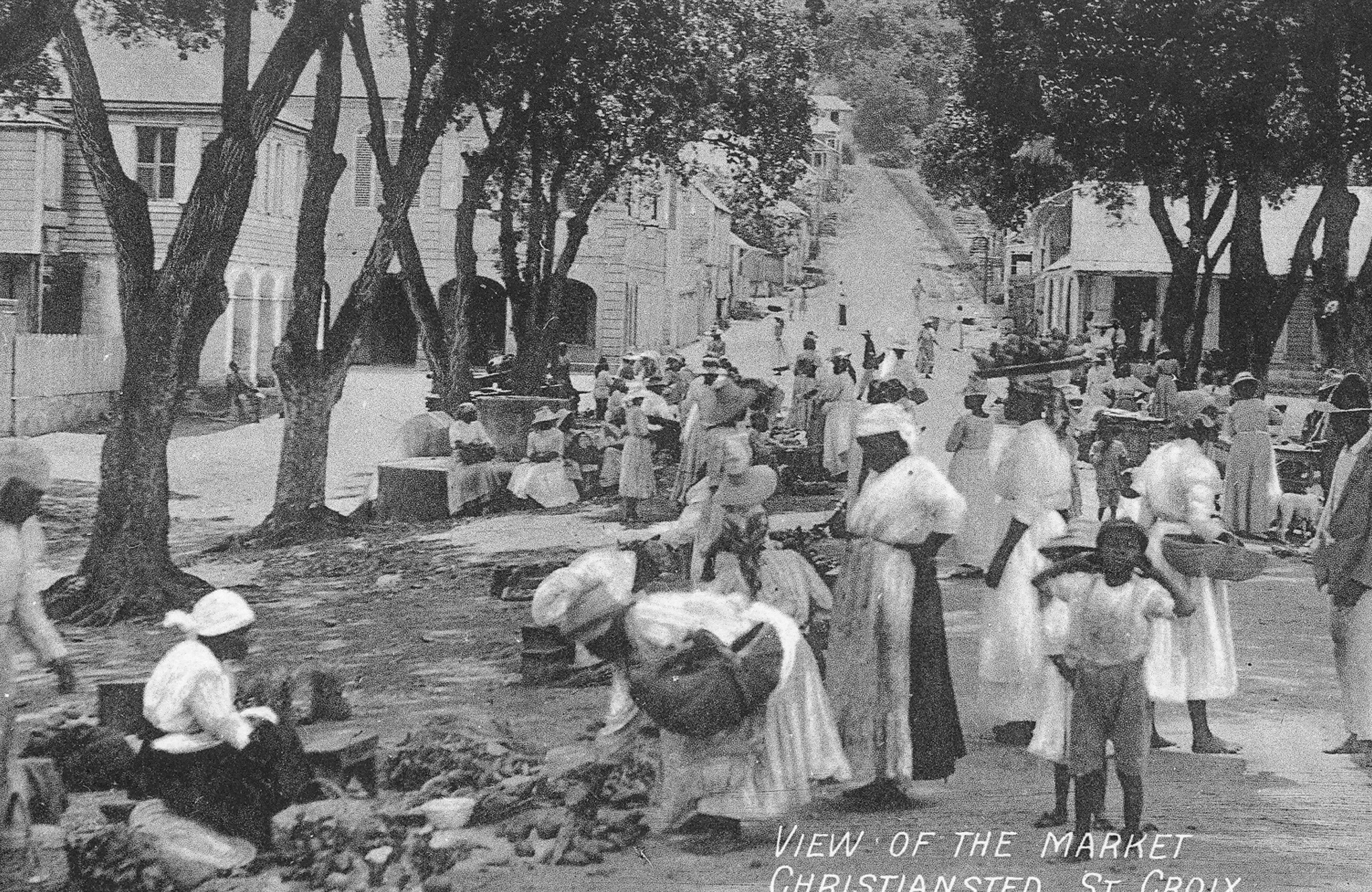 Esclavos en la isla danesa de Saint Croix en el siglo XIX.