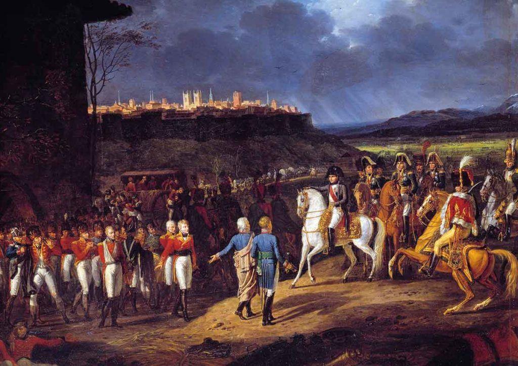 La entrada de Napoleón a Astorga, episodio clave de la Guerra de Independencia, en un óleo de Hippolyte Lecomte.