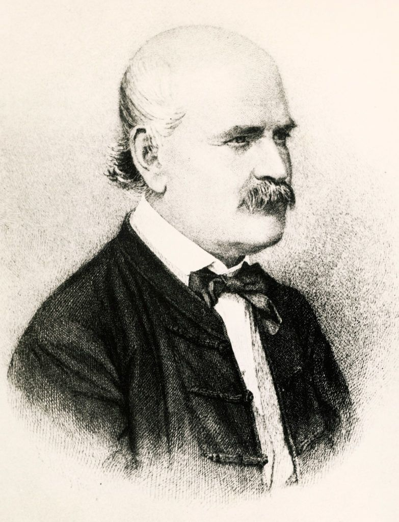 Grabado del Dr. Ignaz Semmelweis. 1860, de Jenő Doby
