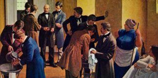 Semmelweis instaló lavabos en las salas de atención y pidió a los médicos que se limpiasen las manos con cloruro cálcico antes de tratar a las parturientas. Un mes después de implantar la técnica, la mortalidad por fiebre puerperal se redujo al 0,23 por ciento.