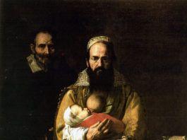 """""""Magdalena Ventura con su marido"""", por José de Ribera, 1631, Hospital de Tavera, Toledo."""