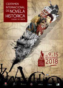 Cartel de la edición de este año del Certamen Internacional de Novela Histórica Ciudad de Úbeda.
