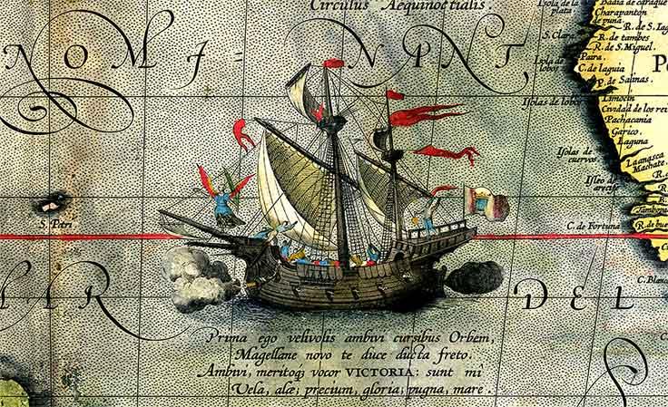 """La nao """"Victoria"""", con la que Elcano completó la primera vuelta al mundo."""