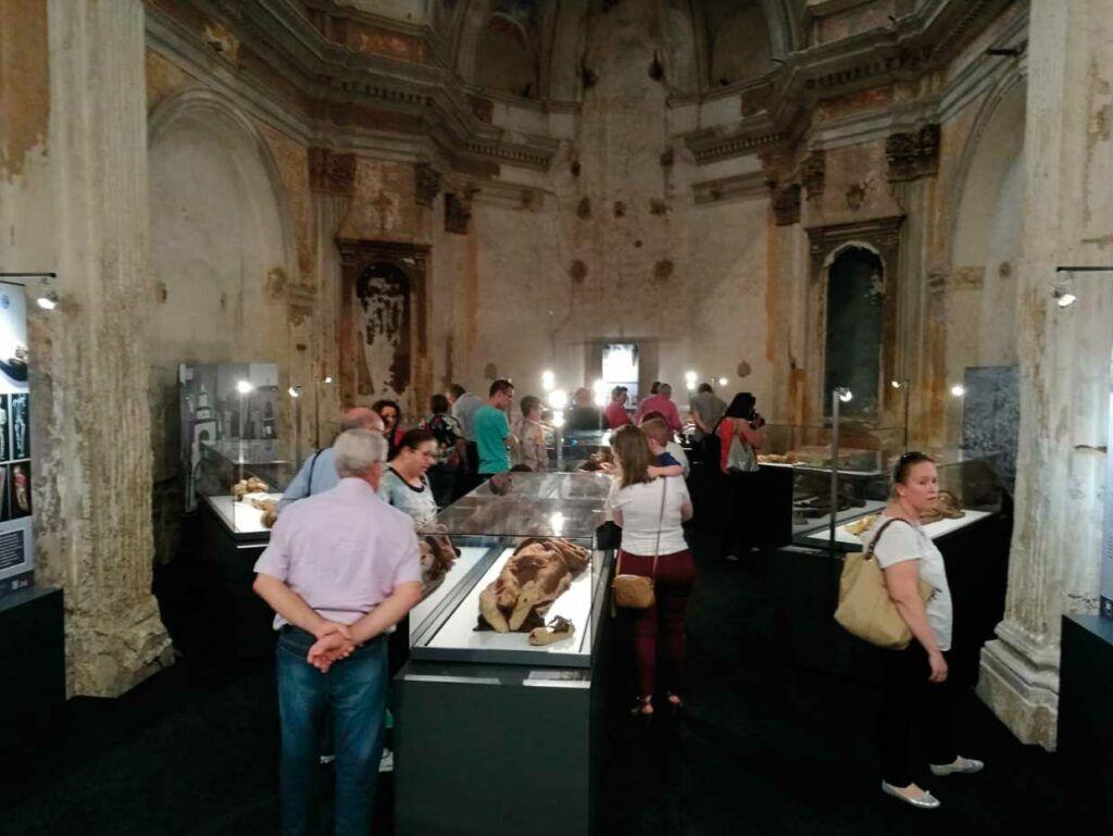 Panorámica del Museo de Momias de Quinto de Ebro (Zaragoza).