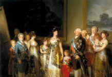 """La familia de Carlos IV"", de Goya, 1800."