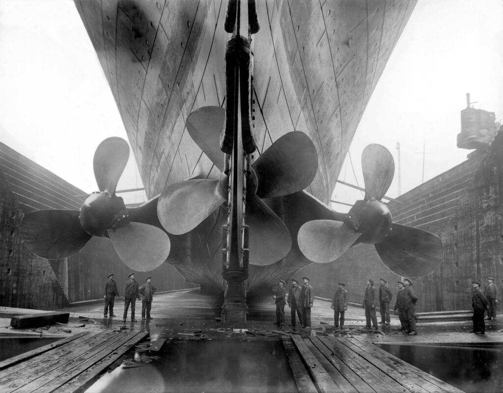 Las hélices propulsoras del Titanic.