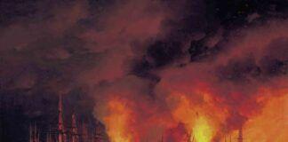"""""""La batalla de Sinope"""", Guerra de Crimea, por I. Aivazovsky, 1856, óleo sobre lienzo, Museo Naval de San Petersburgo."""
