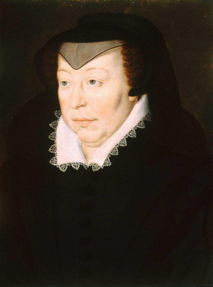 Retrato de Catalina de Médici, por François Clouet, 1580, Baltimore, Walters Art Museum.