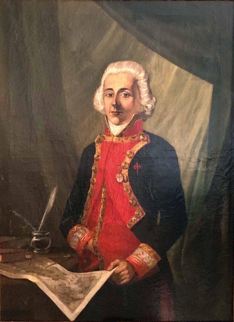 Retrato de Rosendo Porlier y Sáenz de Asteguieta, brigadier al mando de la División del Mar del Sur. Anónimo, h. 1800.