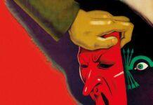 """Cartel republicano instando a desenmascarar a los integrantes de la quinta columna, en la portada del número 248 de """"La Aventura de la Historia""""."""