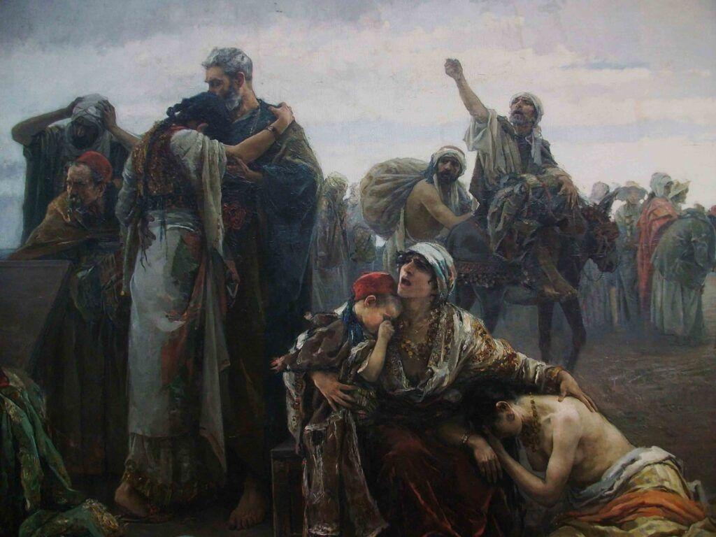"""""""La expulsión de los moriscos"""", por Gabriel Puig Roda, 1894, Castellón, Museo de Bellas Artes."""