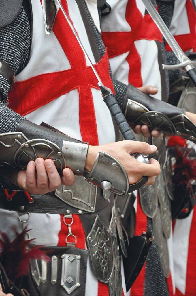 Detalle de la vestimenta y las armas del bando cristiano. Foto: Tomás Sánchez