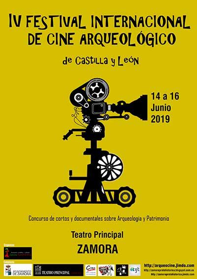Cartel del IV Festival Internacional de Cine Arqueológico de Castilla y León.