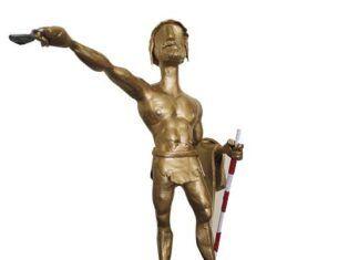 Estatuilla del Viriato de Oro, máximo galardón del Festival Internacional de Cine Arqueológico de Castilla y León.