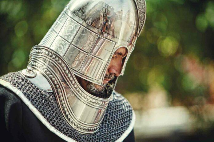 Caballero medieval de la Fiesta de Moros y Cristianos de Elda. Fotografía de Vicente Esteban.