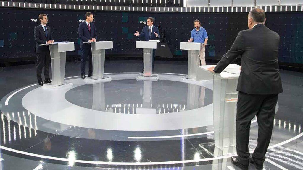 Debate electoral celebrado el 22 de abril de 2019 en TVE.