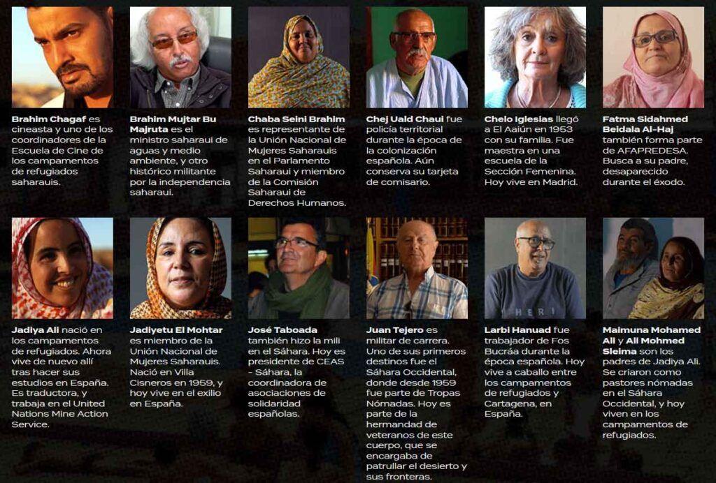 """Algunos de los protagonistas del documental web """"Provincia 53""""."""