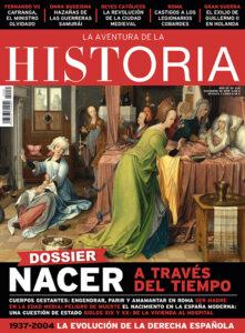 """Portada del número 254 de """"La Aventura de la Historia"""", dedicada la historia del nacimiento."""