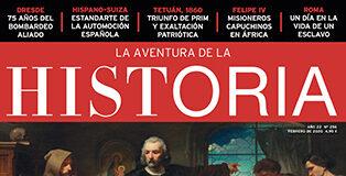"Portada del número 256 de la revista de historia ""La Aventura de la Historia"", dedicada a la saga de Cristóbal Colón."