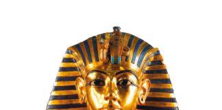Máscara funeraria del faraón Tutankhamón.