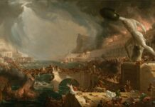 """The course of Empire. Destruction"" (detalle), Thomas Cole, 1836, New York Historical Society."
