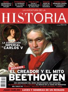 """Portada del número 264 de la revista de historia """"La Aventura de la Historia"""", dedicada a Beethoven."""