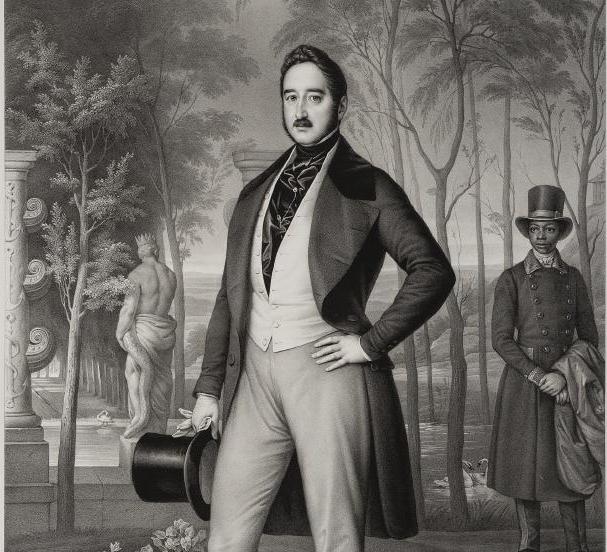 Retrato de Agustín Fernando Muñoz, I duque de Riánsares (Tarancón, 1808-Le Havre, 1873) y segundo esposo de la reina gobernadora María Cristina de Borbón-Dos Sicilias, Madrid, Museo del Romanticismo.