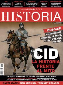 """Portada del número 267 de la revista de historia """"La Aventura de la Historia"""", dedicada al Cid."""