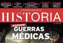 """Portada del número 269 de la revista de Historia """"La Aventura de la Historia"""", con un Dossier dedicado a las Guerras médicas."""
