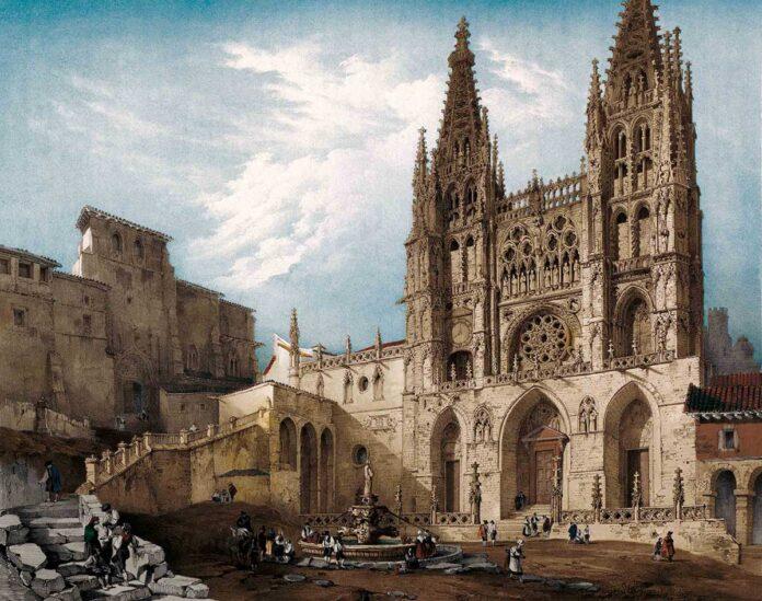 La catedral de Burgos, en un grabado de Villaamil para