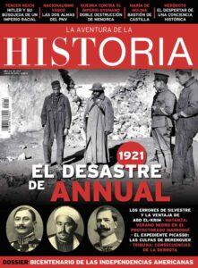 "Portada del número 273 de la revista de Historia ""La Aventura de la Historia"", dedicada al desastre de Annual."